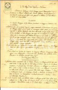 1850 ca CUGGIONO (MI) Beni rurali di Carlo RUGGERI albergatore *Manoscritto