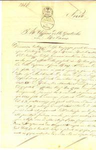 1855 CUGGIONO (MI) Beni rurali di Carlo RUGGERI albergatore *Manoscritto