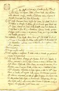 1805 MILANO Conte Carlo Francesco DURINI riceve saldo da Bartolomeo CALDERARI