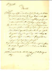 1847 MILANO Nomina di Filippo FUMAGALLI perito rigattiere su mobili di debitore