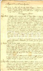 1850 ca CUGGIONO (MI) Terreni di Carlo RUGGERI albergatore *Manoscritto