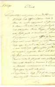 1847 MILANO Competenze ufficiale SABBIONI per pignoramento mobili *Manoscritto