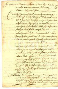 1770 MASSAGNO (CH) Antonio BRE' vende terra SION DI SOTTO a Giambattista ZANETTI