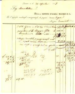 1837 LIVORNO Nipoti d'Alessandro MAURO & C. vendono grano a Marco MELLINI