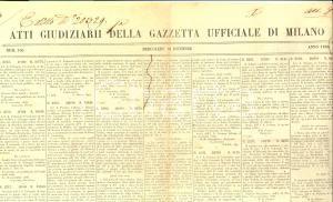 1856 GAZZETTA UFFICIALE DI MILANO SAN COLOMBANO (PV) Asta terre Carlo OPPIZIO