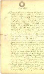 1854 CUGGIONO (MI) Giuseppe VILLA si aggiudica vigna MALVAGLIO e fondo MODRET