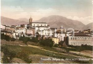 1955 TORRICELLA PELIGNA (CH) Panorama del paese *Cartolina FG VG