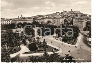 1954 ANCONA Piazza CAVOUR Panorama ANIMATA *Cartolina FG VG