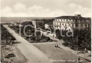 1953 MARINA DI MASSA (MS)  Albergo TORINO Panorama ANIMATA *Cartolina FG NV
