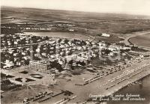 1955 ca CESENATICO (FC) Centro balneare e GRAND HOTEL Veduta aerea *Cartolina FG