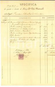 1894 MILANO Conto del notaio Tito ROSNATI *Manoscritto