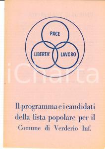 1950 ca VERDERIO INFERIORE (LC) LISTA POPOLARE Candidati elezioni comunali