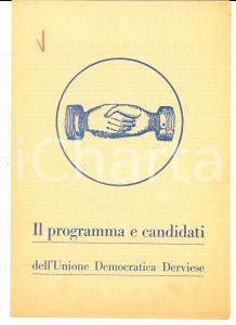 1950 ca DERVIO (LC) LISTA POPOLARE Programma e candidati elezioni comunali