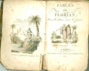 1821 FABLES DE FLORIAN Nouvelle édition ornée de figures *ILLUSTRATO DANNEGGIATO
