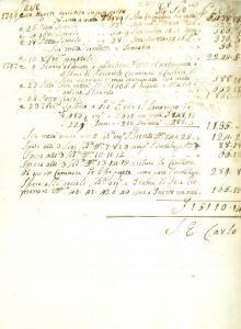 1796 BRESCIA Giovanni Pietro BORGHETTI acquista sete cremonesi *Documento