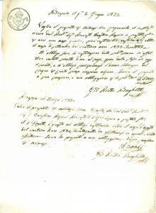 1833 BRESCIA Prevosto Faustino ROSSINI presta denaro a Giovanni Pietro BORGHETTI