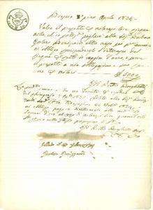1834 BRESCIA Barbara GORLANI BONIZZARDI presta soldi a Giovanni Pietro BORGHETTI