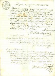 1831 BRESCIA Don Giovanni ARCHETTI presta denaro a Giovanni Pietro BORGHETTI