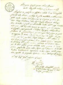 1826 BRESCIA Pietro BORGHETTI si impegna a saldare legati dell'Eredità TOCCAGNI