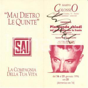 1996 TORINO COLOSSEO Piantando chiodi nel pavimento *Autografo Luca BARABARESCHI