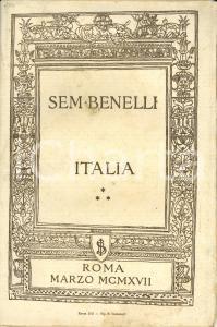 1917 Sem BENELLI Italia Orazione detta la sera del 13 marzo al Teatro ADRIANO