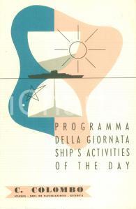 1955 SOCIETA' NAVIGAZIONE ITALIA Nave Cristoforo COLOMBO Programma per 26 marzo
