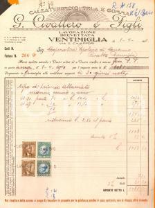 1940 VENTIMIGLIA (IM) Calzaturificio G. CIVALLERO & figli *Fattura intestata