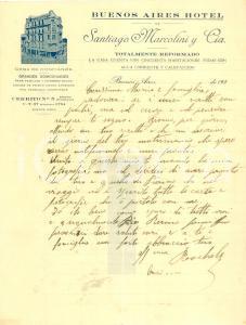 1930 ca BUENOS AIRES (ARGENTINA) Santiago MARCOLINI y C.ia Casa de confianza