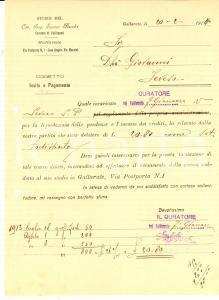 1914 GALLARATE (VA) Intimazione del curatore fallimentare Enrico MACCHI