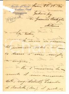 1946 ROMA Ministero LAVORO Gaetano PISTILLO raccomanda Achille LEANDRO