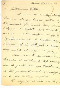 1947 ROMA Gaetano PISTILLO si preoccupa per  un amico raccomandato *Autografo