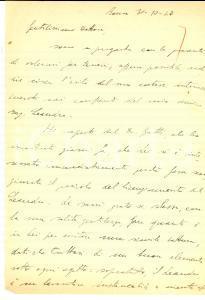 1947 ROMA Gaetano PISTILLO contro il licenziamento dell'amico Achille LEANDRO