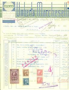 1940 MORTARA (PV) Umberto MARCHESELLI Articoli di cancelleria *Fattura