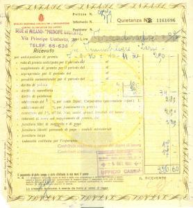1936 MILANO Istituto Nazionale Fascista Assicurazione Infortuni sul Lavoro