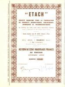 1935 ca PARIS Etach Société Anonyme Fabrication Produits Aromatiques Action