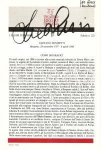 1993 TORINO Teatro Regio ELISIR D'AMORE Autografo Leo NUCCI Baritono *Pieghevole