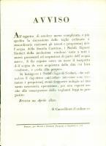 1821 BRESCIA Norme per acquirenti dell'acqua della SERIOLA CASTRINA *Manifestino
