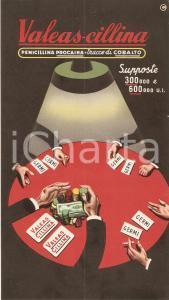 1955 MILANO Supposte VALEAS-CILLINA Penicillina *Cartoncino pubblicitario