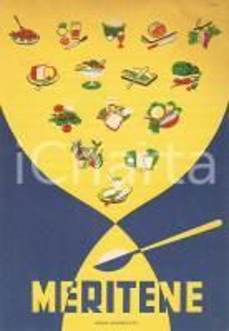 1955 MILANO Farmaci FARBER Dietetico MERITENE Dietene Company *Cartoncino
