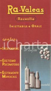 1955 MILANO Confetti RA-VALEAS contro l'eccitamento maniacale *Cartoncino