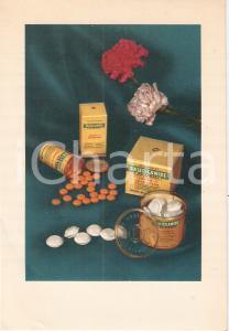 1955 MILANO Istituto DE ANGELI Farmaco SALICILAMIDE *Cartoncino pubblicitario