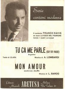 1955 ca Franco DAVIS Tu ca me parle (cu' sti vase) - Mon amour *Edizioni ARETUSA