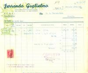 1942 ACQUI TERME (AL) Guglielmo FERRANDO Olio puro oliva e di semi *Fattura