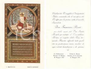 1931 MILANO Basilica di SANT'EUFEMIA Prima messa di Don Francesco ROSSI *Santino