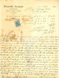 1923 SAVONA Lazzaro PICCARDO Esportazione frutta verdura e agrumi Lettera