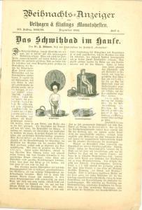 1892 LEIPZIG (DE) Il bagno turco in casa Weihnachts-Anzeiger VELHAGEN & KLASINGS