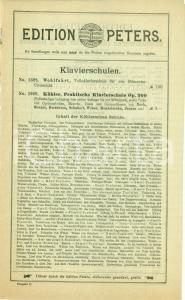 1930 ca LEIPZIG (DE) Bollettino editoriale musicale EDITION PETERS *DANNEGGIATO