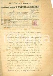 1927 VIGEVANO Ingrandimenti foto REGAZZONI BALESTRIERI vs Maria SANTAGOSTINO