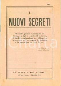 1900 ca TORINO I nuovi segreti de La scienza del Popolo *Pubblicazione