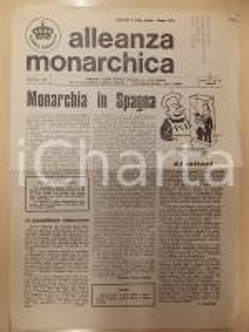 1975 ALLEANZA MONARCHICA Sulla Monarchia in SPAGNA *Rivista